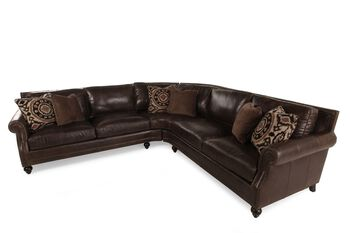 Bernhardt Brae Two-Piece Leather Sectional