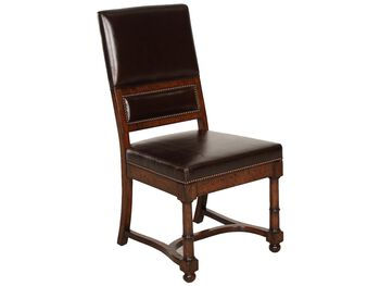Bernhardt Vintage Patina Leather Side Chair