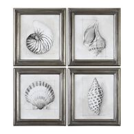 Uttermost Shell Schematic Aquatic Prints S/4