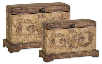 Uttermost Scotty Wood Boxes, Set/2