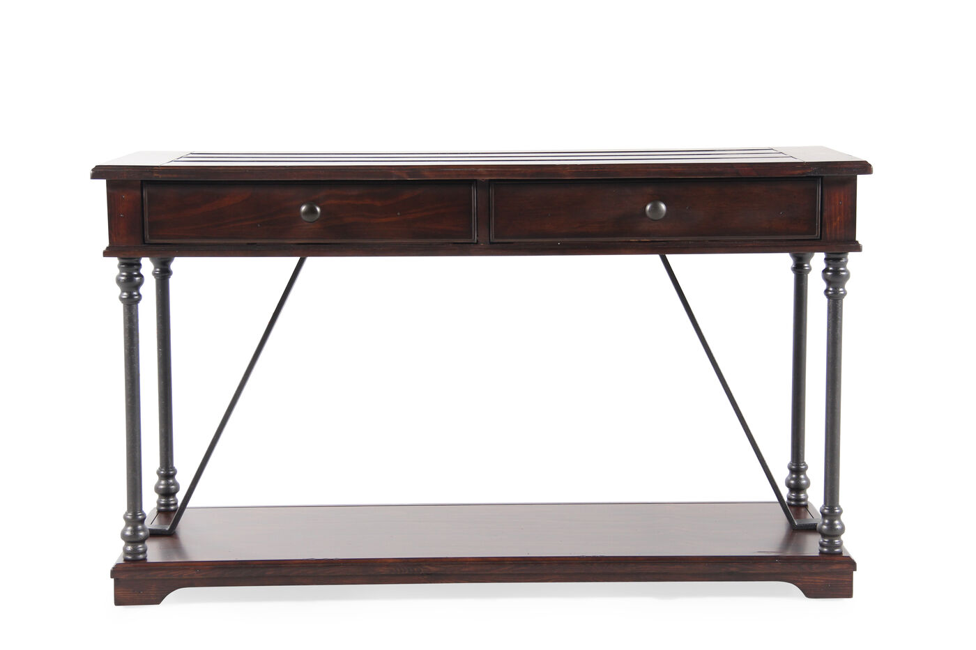 Magnussen home butler sofa table mathis brothers furniture for Sofa butler