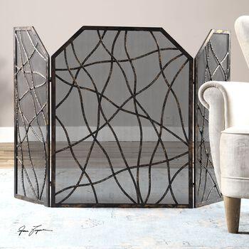 Uttermost Dorigrass Metal Fireplace Screen