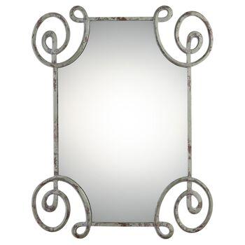 Uttermost Rennes Distressed Iron Mirror