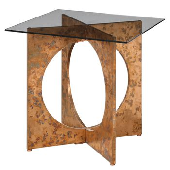 Uttermost Darry Copper Accent Table