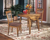 Ashley Berringer Rustic Brown Round Dining Room Drop Leaf Table