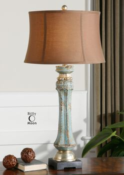 Uttermost Deniz Blue Table Lamp