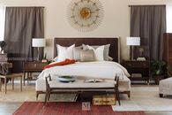 Thomasville Ellen DeGeneres Wilshire Walnut California King Upholstered Bed