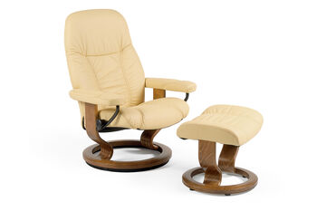 Stressless Batick Small Latte Chair and Ottoman
