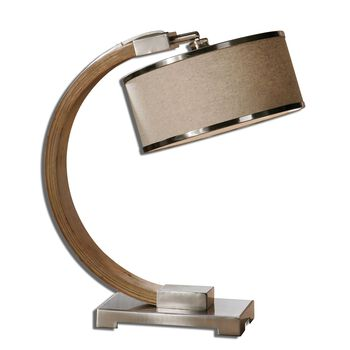 Uttermost Metauro Wood Desk Lamp