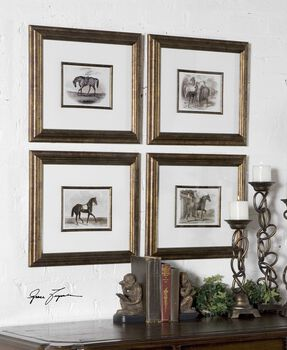 Uttermost Horses Framed Art Set/4
