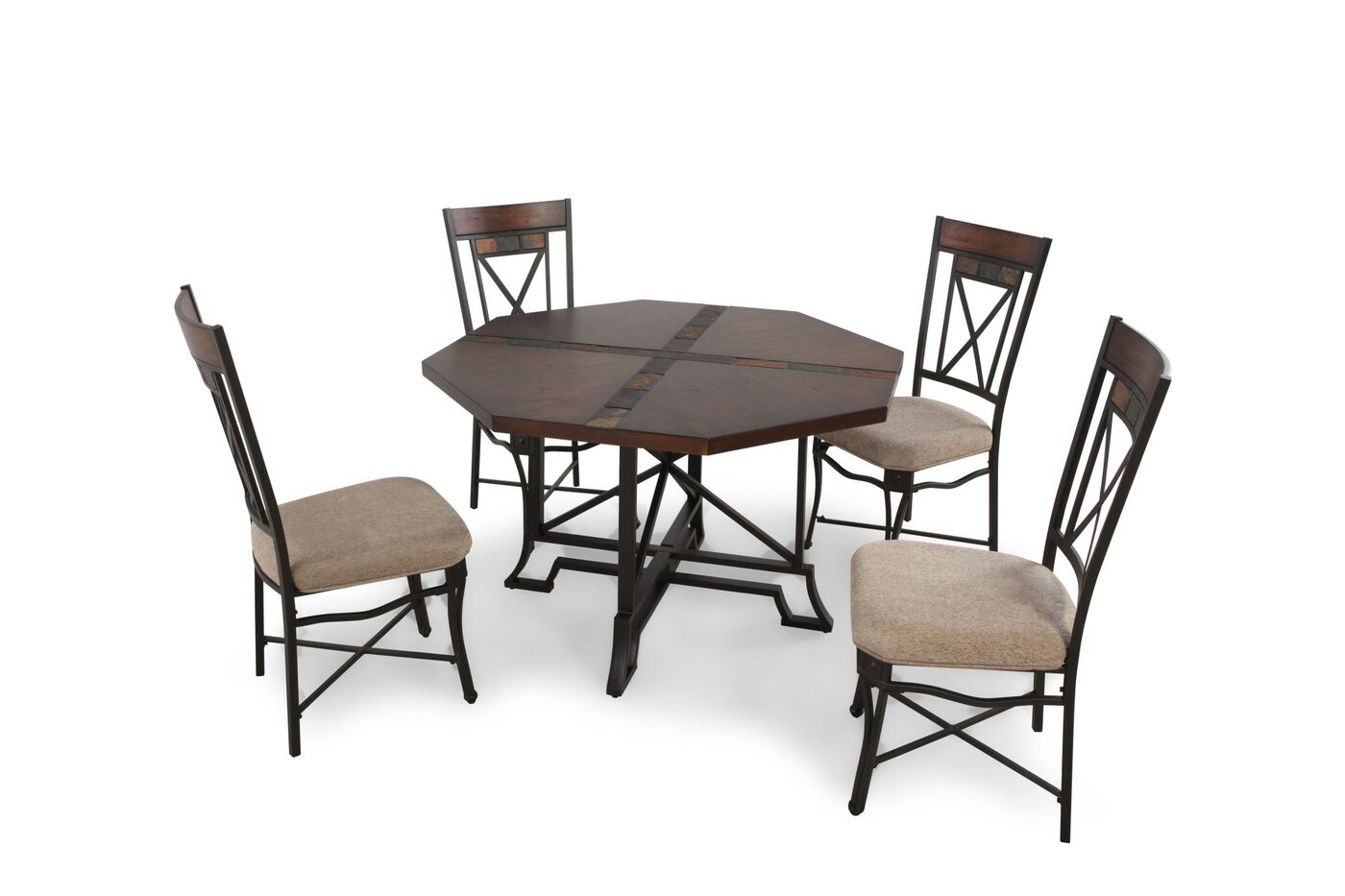 Ashley Vinasville Five Piece Dining Set Mathis Brothers Furniture