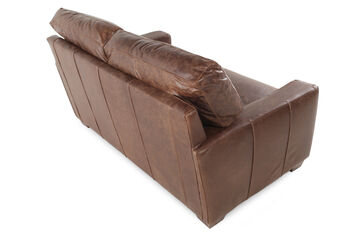 USA Leather Chestnut Leather Loveseat
