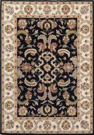 LBJ Hand Tufted Wool Navy/ivory 5' X 8' Rug