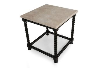 Bernhardt End Table with Stone Top
