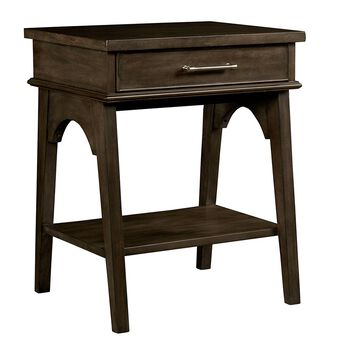 Stone & Leigh Chelsea Square Raisin Bedside Table