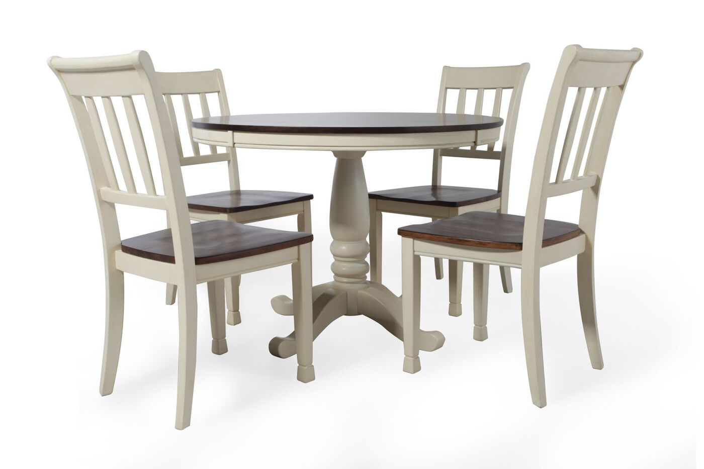 Ashley whitesburg cottage five piece dining set mathis for 2 piece dining room set