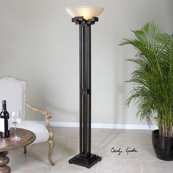 Uttermost Broglen Metal Column Floor Lamp