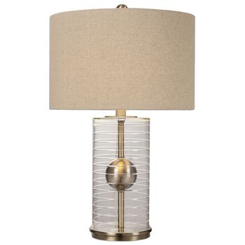 Uttermost Tupelo Glass Cylinder Lamp