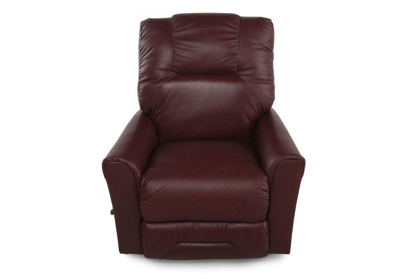 La Z Boy Easton Burgundy Recliner Mathis Brothers Furniture