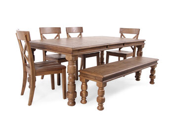 Ashley Trishley Six Piece Dining Set Mathis Brothers Furniture