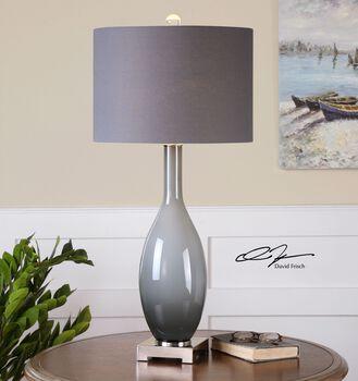 Uttermost Vallo Smoke Gray Glass Lamp