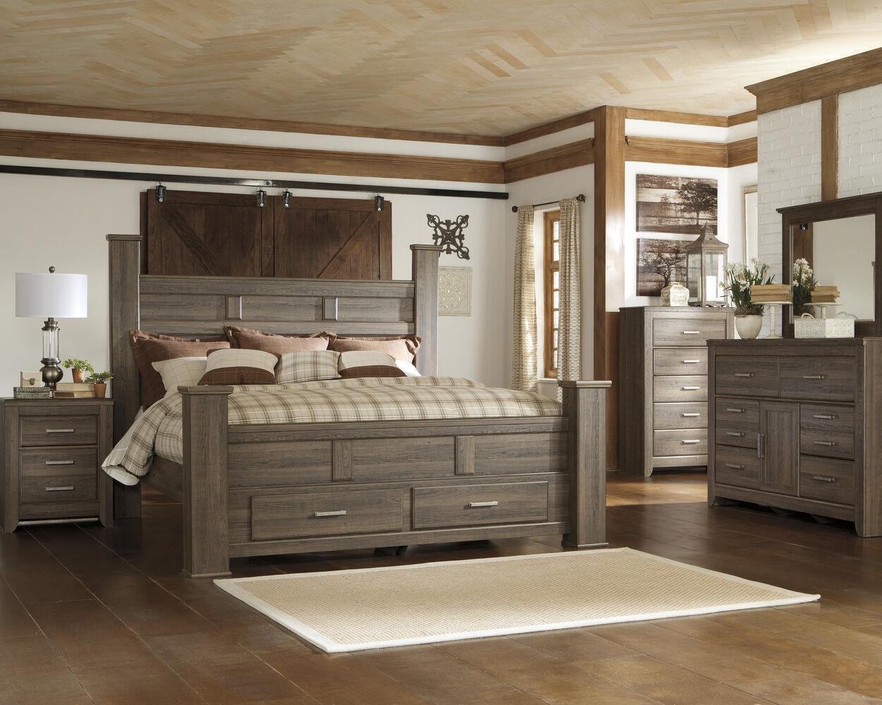 Ashley Juararo Storage Bed Mathis Brothers Furniture