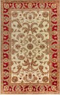 LBJ Hand Tufted Wool Ivory/red 9' X 9' Round Rug