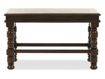 Ashley Gerlane Double Counter Dark Brown Bench