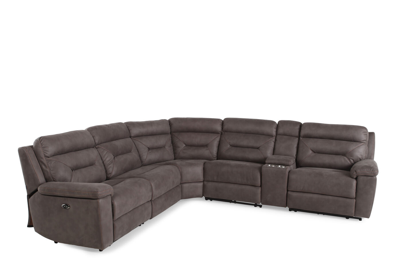 Mathis Brothers Living Room Furniture Boulevard Power 6 Piece Sectional Mathis Brothers