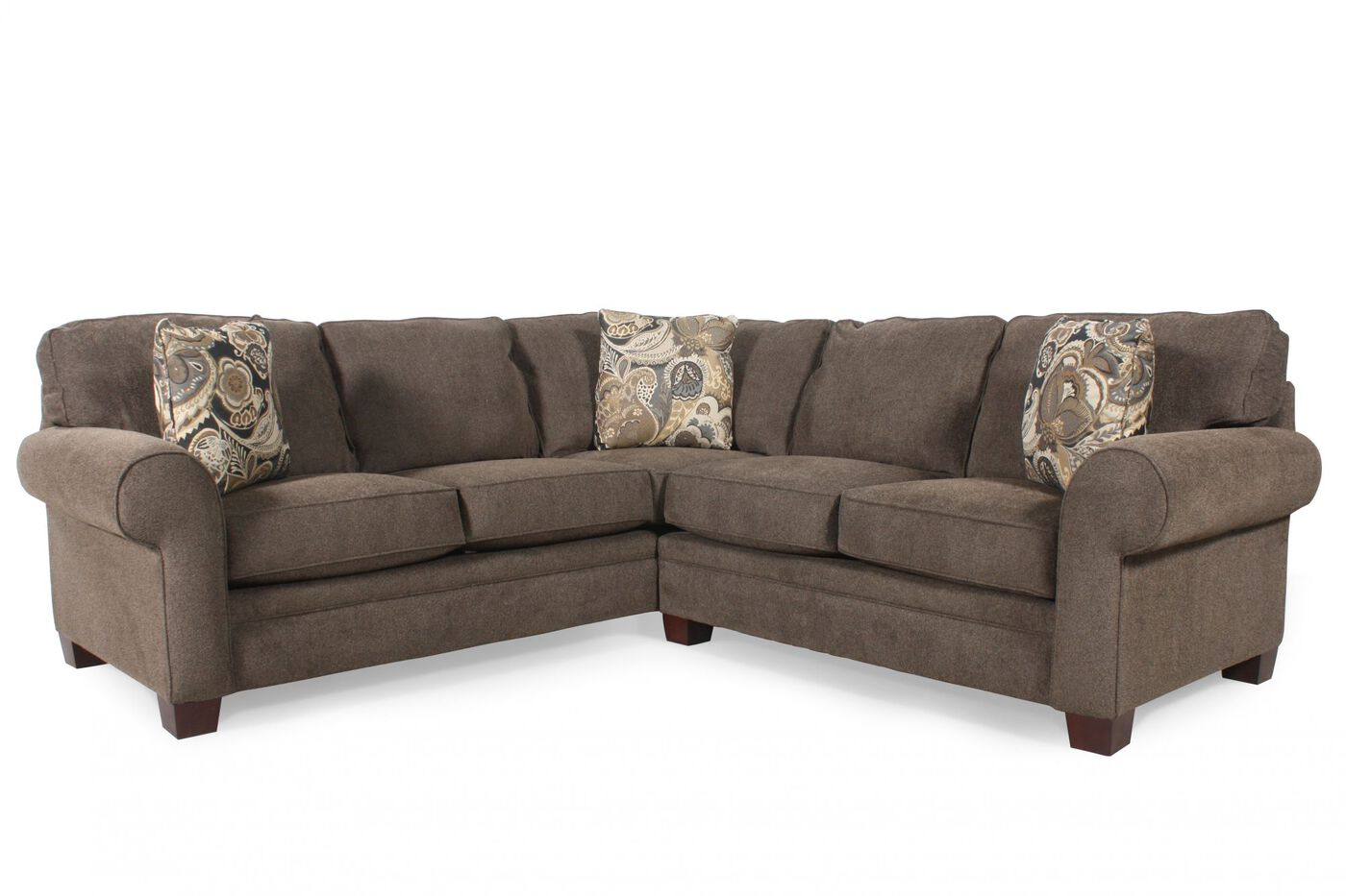 broyhill choices two piece sectional mathis brothers