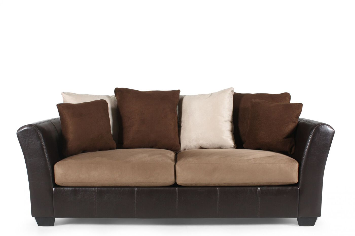 ashley mocha sofa masoli mathis brothers. Black Bedroom Furniture Sets. Home Design Ideas