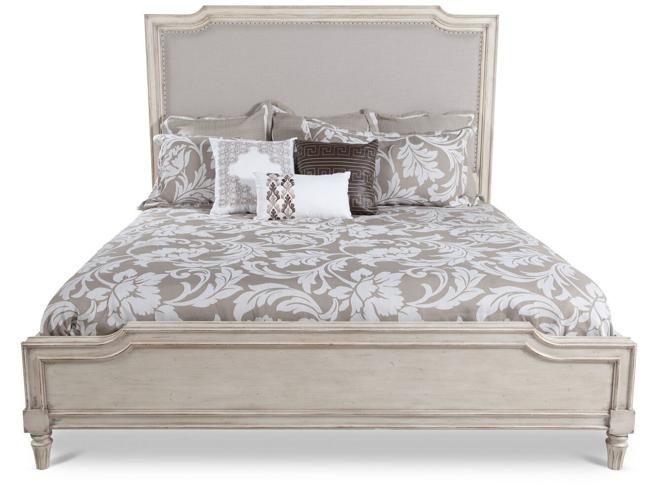 Stanley classic portfolio european cottage upholstered bed - European cottage bedroom furniture ...
