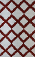 LBJ Machine Made Polyacrylic Ivory/red Geometric  8' X 11' Rug