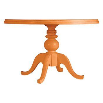 Stanley Coastal Living Retreat Spanish Orange Round Pedestal Table Painted Top