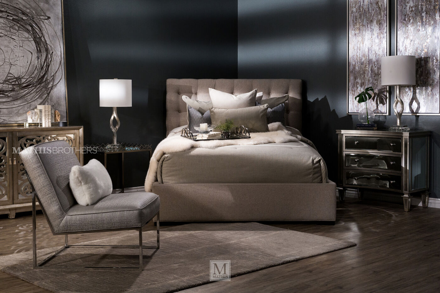 Lacks Bedroom Furniture Jonathan Louis Abby Bed Mathis Brothers Furniture