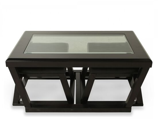 Ashley Kelton Cocktail Table Amp Two Pullout Ottomans