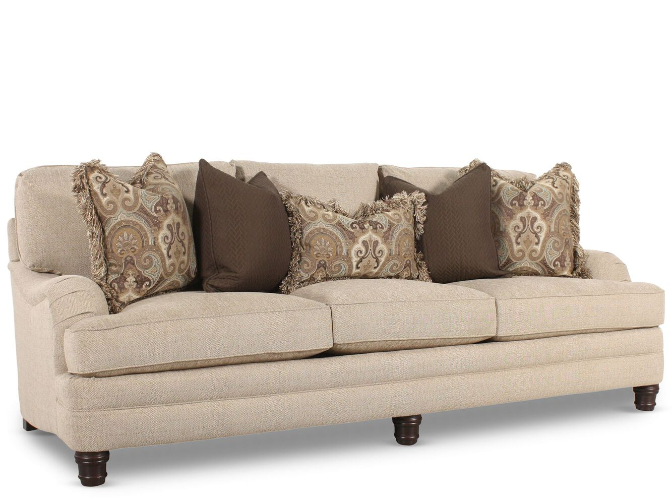 Bernhardt tarleton sofa mathis brothers furniture for Bernhardt living room furniture