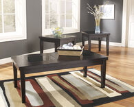 Ashley Denja Dark Brown Occasional Table Set