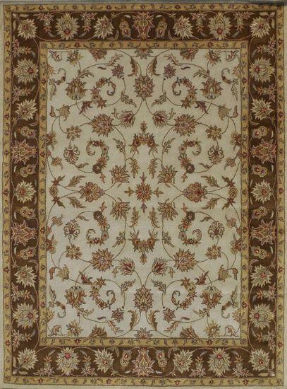 LBJ Hand Tufted Wool Beige/brown Traditional Rug