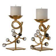 Uttermost Bede Gold Candleholders S/2
