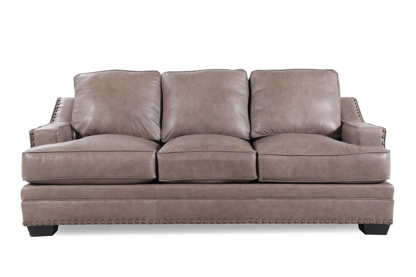 Broyhill Estes Park Leather Sofa Mathis Brothers Furniture