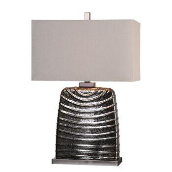 Uttermost Hoffler Mottled Mercury Glass Lamp
