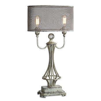 Uttermost Pontoise Aged Ivory Table Lamp