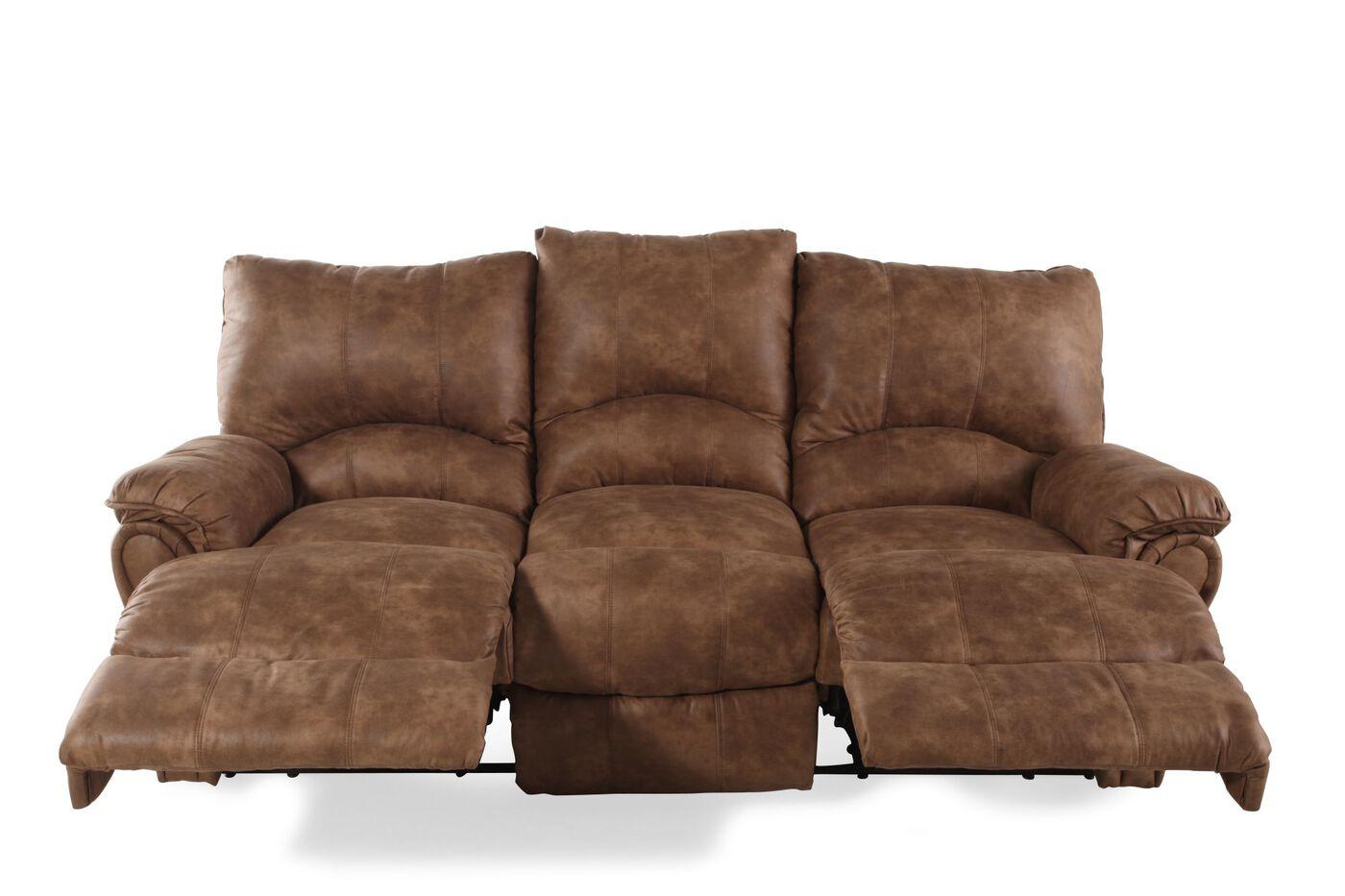Lane Alpine Caramel Reclining Sofa Mathis Brothers Furniture