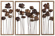 Uttermost Metal Tulips Wall Art Set/3