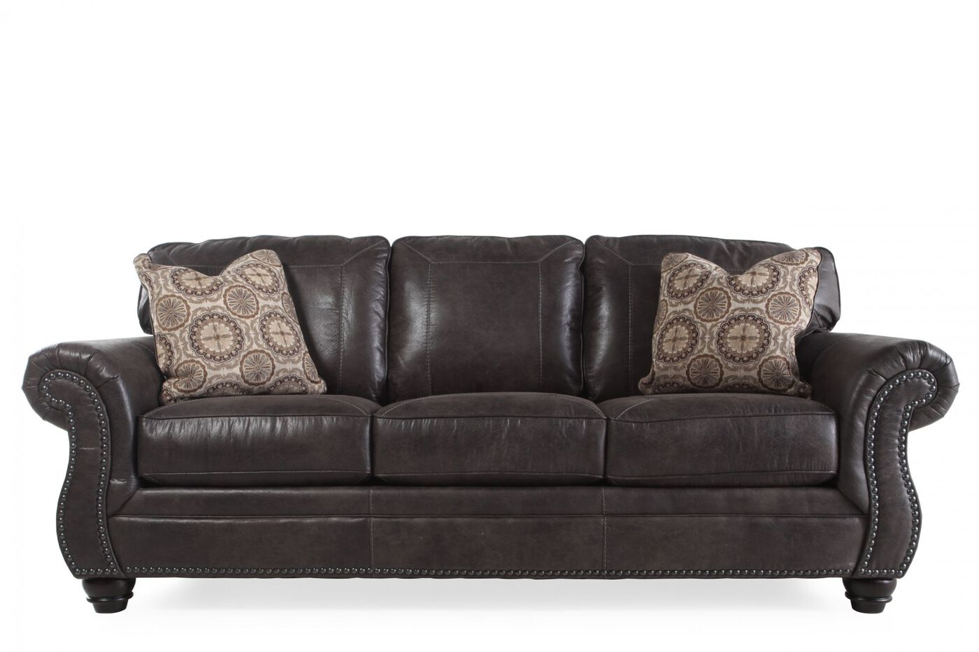 Breville sofa in charcoal mathis brothers for Charcoal sofa