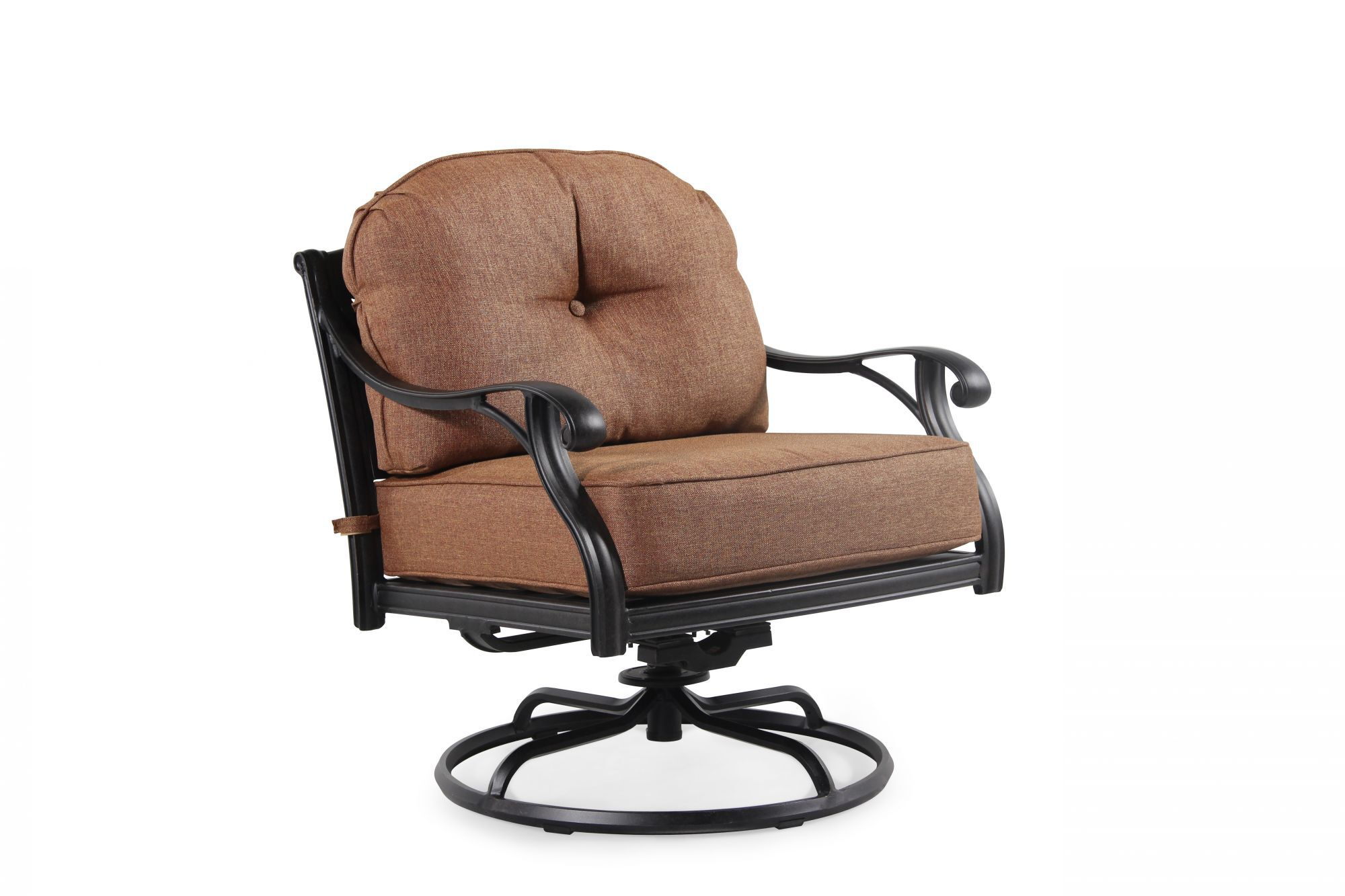 ... World Source Castle Rock Patio Swivel Club Chair ...