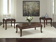 Ashley Florrilyn Reddish Brown Occasional Table Set