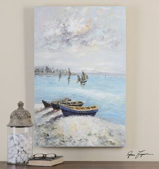 Uttermost Waters Edge Hand Painted Art