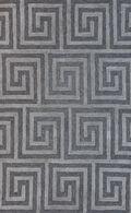 LBJ Hand Tufted Wool/Viscose Ash/liquorice Geometric 8' X 11' Rug